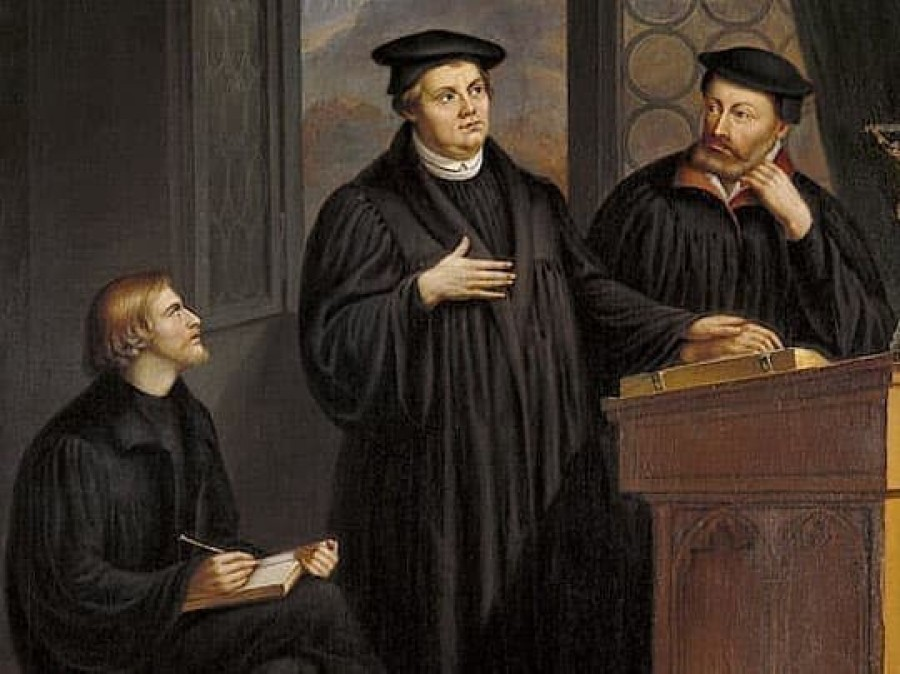 painting depicting Luther at the Heidelberg Disputation (1518)