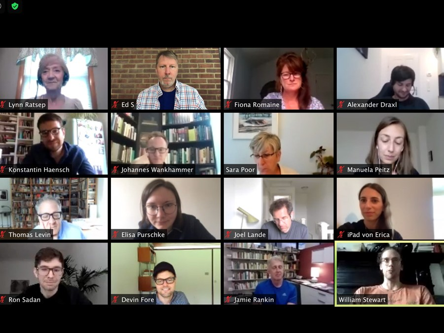 Screengrab of zoom meeting with over 16 people